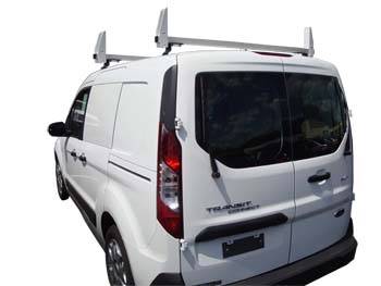 Aluminum 2 Bar Ladder Rack - 2014-All Later Ford Transit Connect