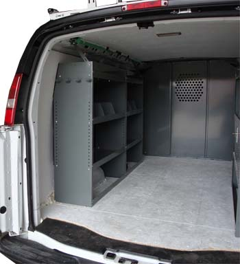 Set of 2 Shelving Units, Basic Full Size Van Package.