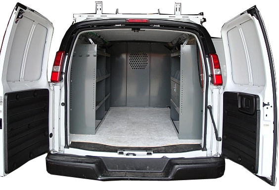 Shelving Package for Full Size Van - 2+1 unit with Door Kit