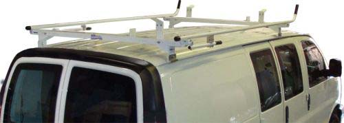 Aluminum Ladder Rack for Full Size GMC Savana - Double Lock Down