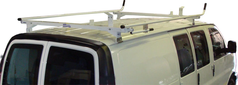 Aluminum Ladder Rack for Ford Econoline - Single Lock Down