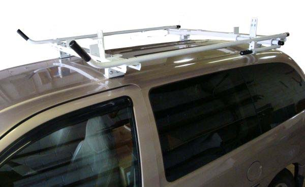 Aluminum Ladder Rack for Minivan - Single Lock Down