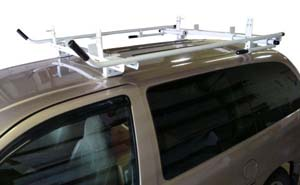 Aluminum Ladder Rack for Minivan - Double Lock Down