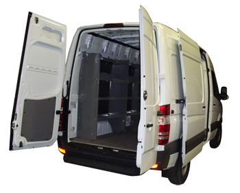 Set of 2 Sprinter Van Shelving Storage Package