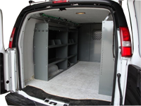 Full Size Van Shelving